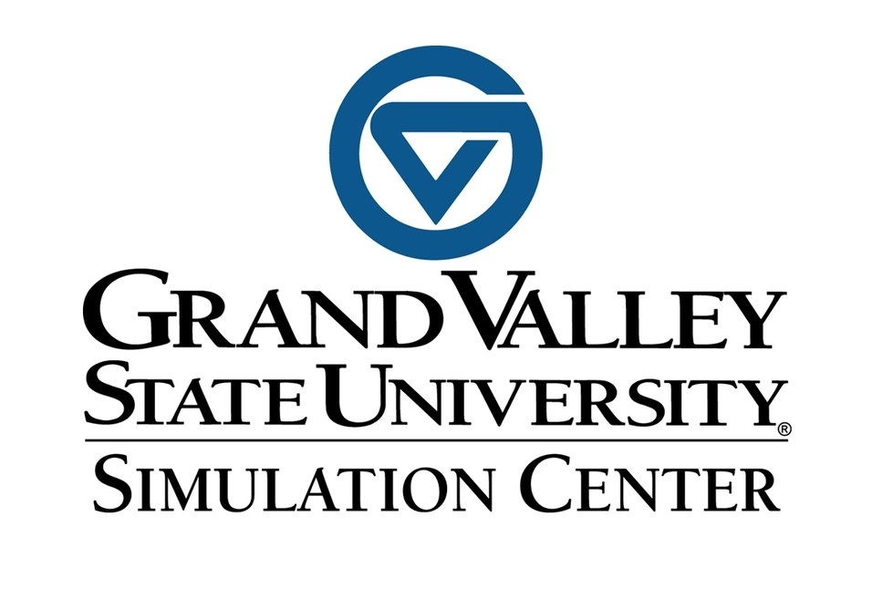 Grand Valley State University Simulation Center Logo