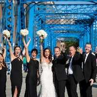 Bridal Party Blue Bridge Photos