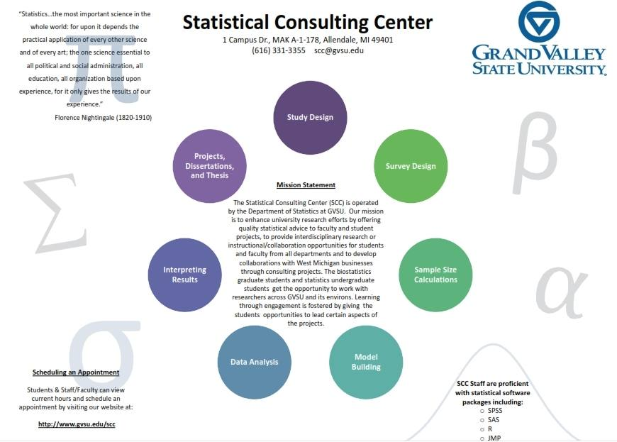 statistics consultant Statistics consultants who can help your organization implement statistics within your organization or help you solve statistical problems.