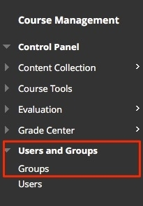 Select Groups from users and groups to access the groups page