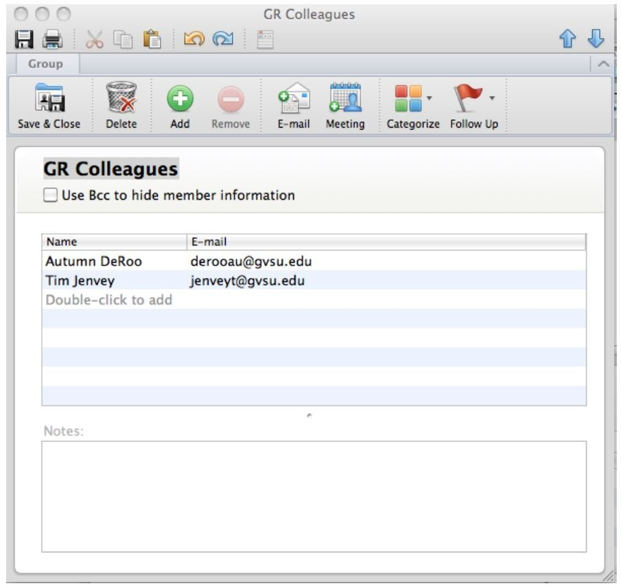 Creating a New Contact Group in Outlook for Mac - HelpDesk - Grand ...