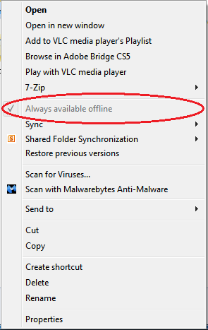 Sync Menu - Always Available