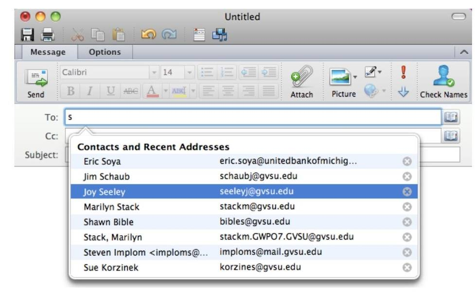How the Address Book Works in Outlook for Mac - HelpDesk - Grand ...