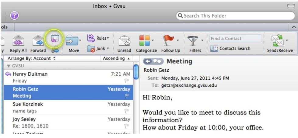 Create a Meeting From Email