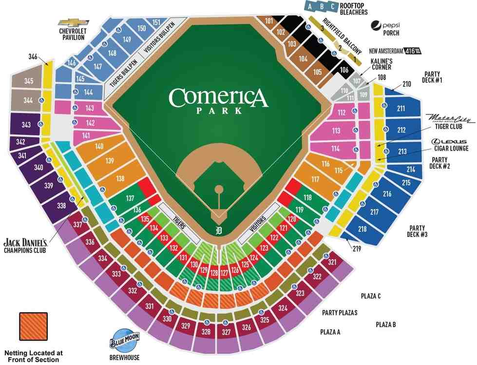Detroit Tigers Seating Guide - Comerica Park - RateYourSeats.com