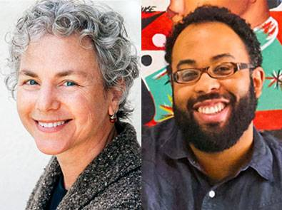 photos of Ellen Bass and Kevin Young