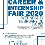 GVSU Winter 2020 Career & Internship Fair on February 26, 2020