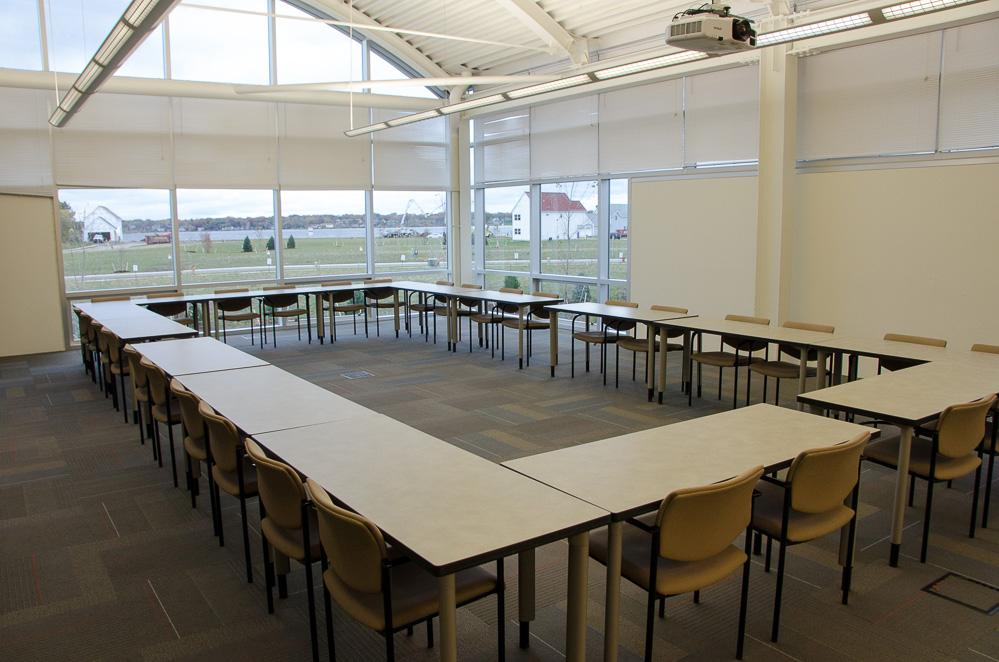 Large Meeting Room Photos Muskegon Innovation Hub Grand Valley - Large square conference table