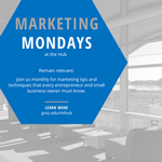 MARKETING MONDAYS on September 9, 2019