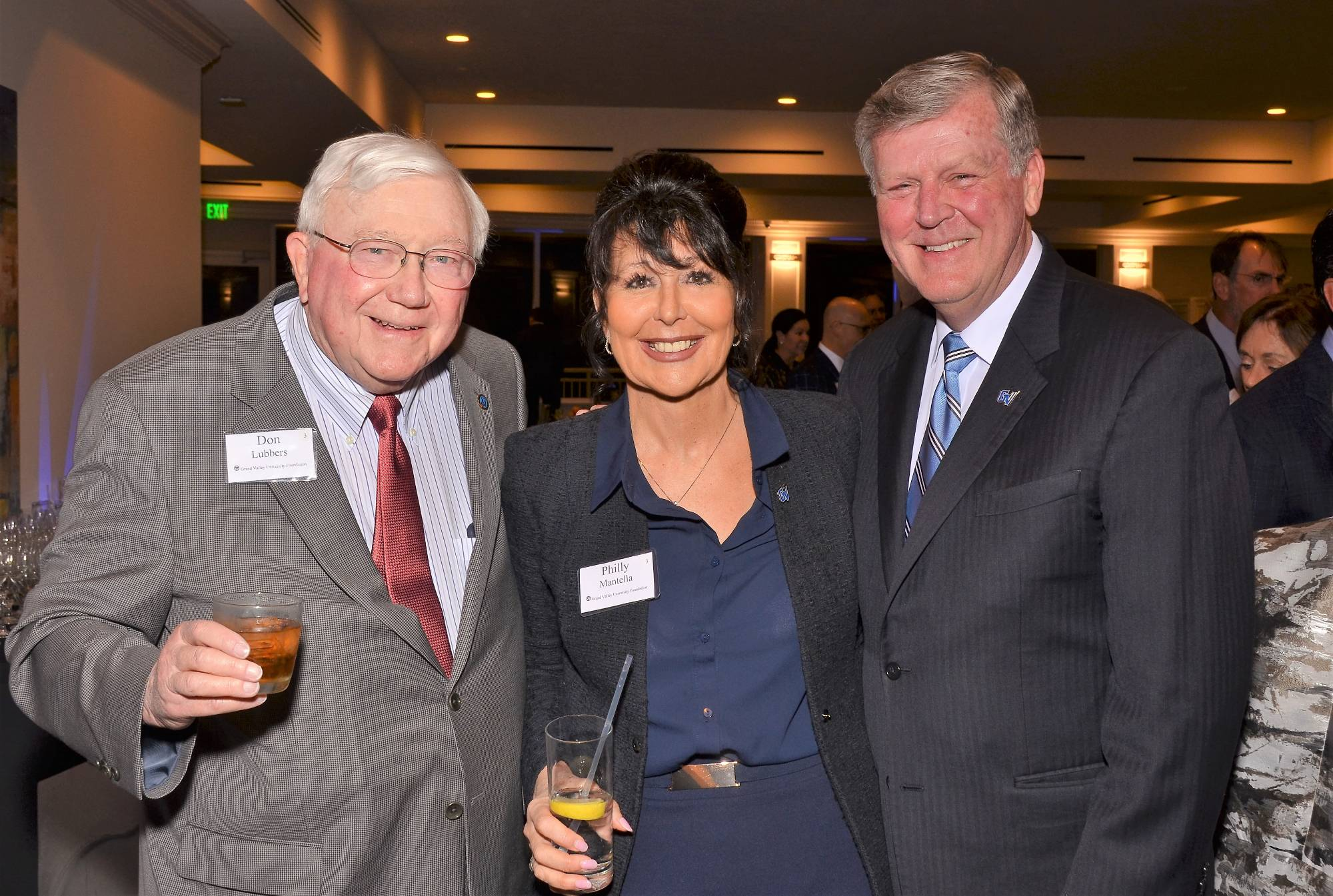 Don Lubbers, Philly Mantella, and President Haas.