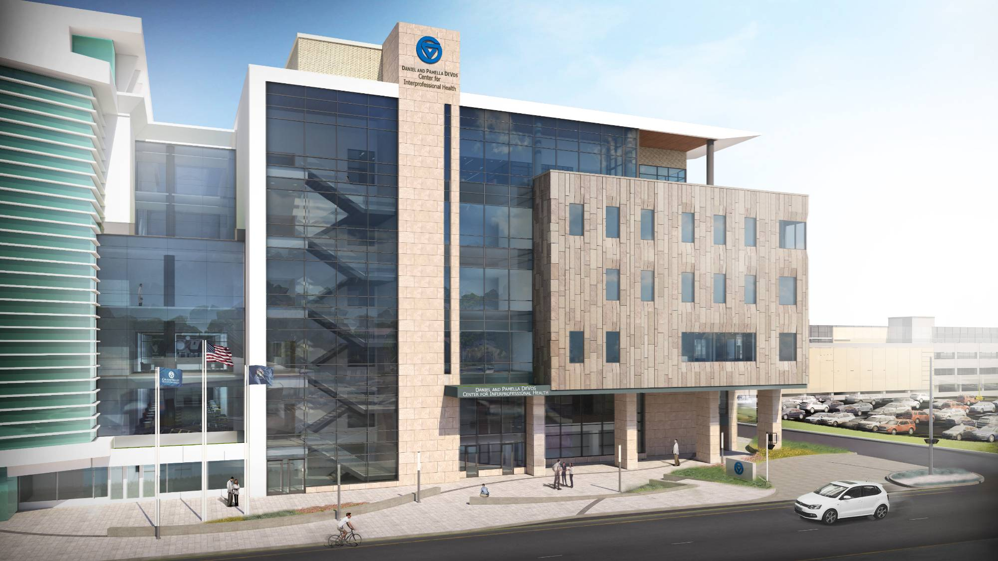 Rendering of the Daniel and Pamella DeVos Center for Interprofessional Health