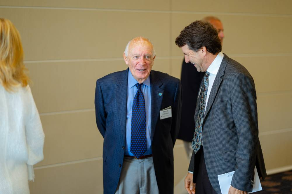 Raleigh J. Finkelstein with a guest at the Foundation Annual Meeting