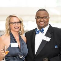 Staci and Brian Redd at the reception
