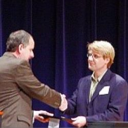 Chad Kewish, with Dan Balfour at Pi Alpha Alpa induction, 2004