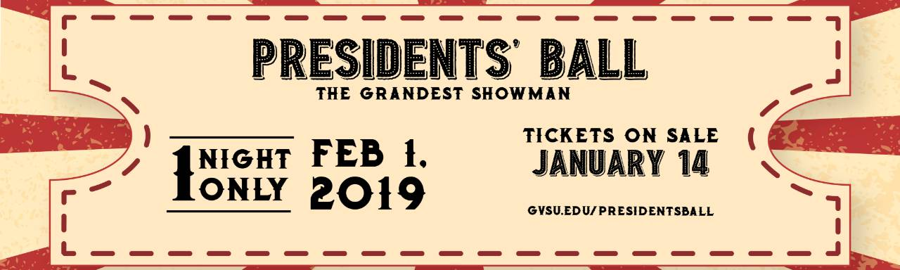 Presidents' Ball Ticket Information Banner