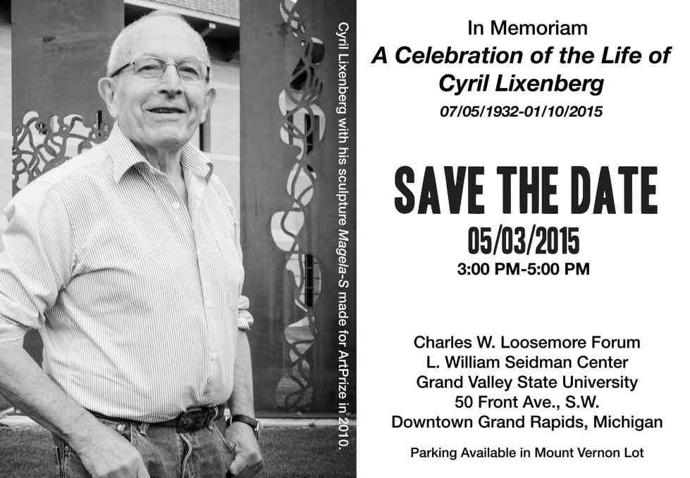 Celebration of Life - Save the Date