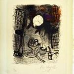 2013.68.10 Nature Morte Brune (Brown Still Life), Marc Chagall, Color lithograph