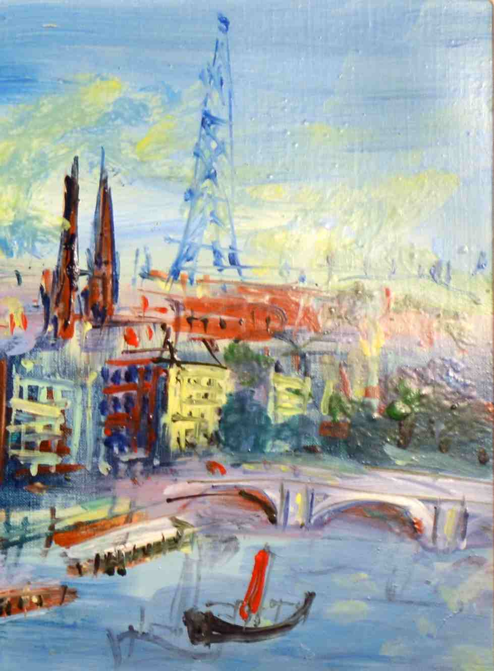 Detail of Ponts de la Seine, Jean Dufy, oil on canvas, 1952
