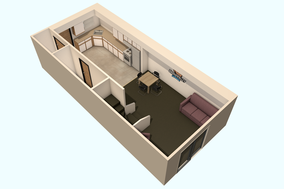 Living room side chair - Living Room On The First Floor And Two Bedrooms And One Bathroom On