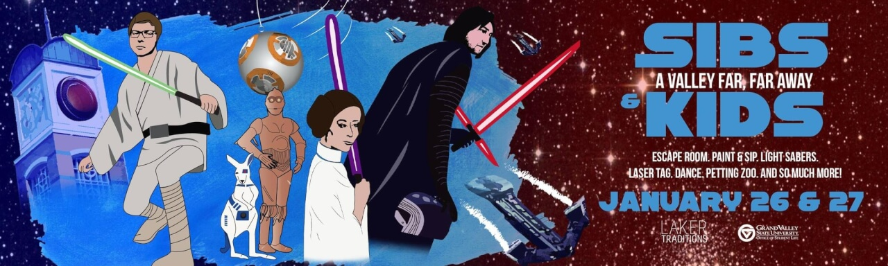 Sibs and Kids Star Wars Themed Banner