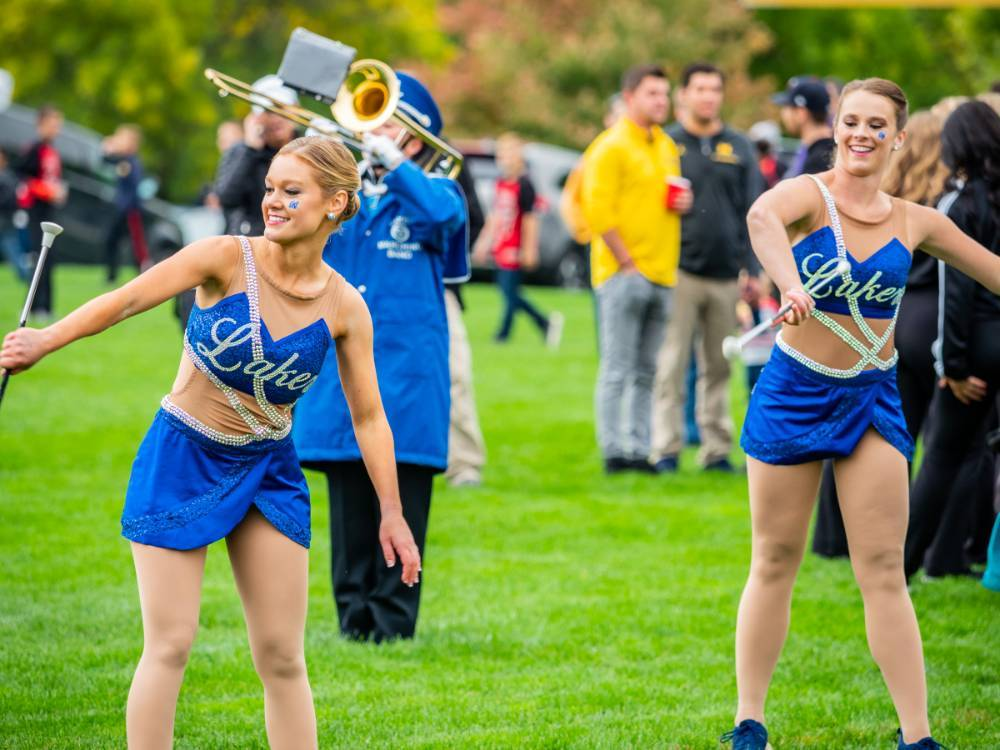 Laker Marching Band Baton Twirlers