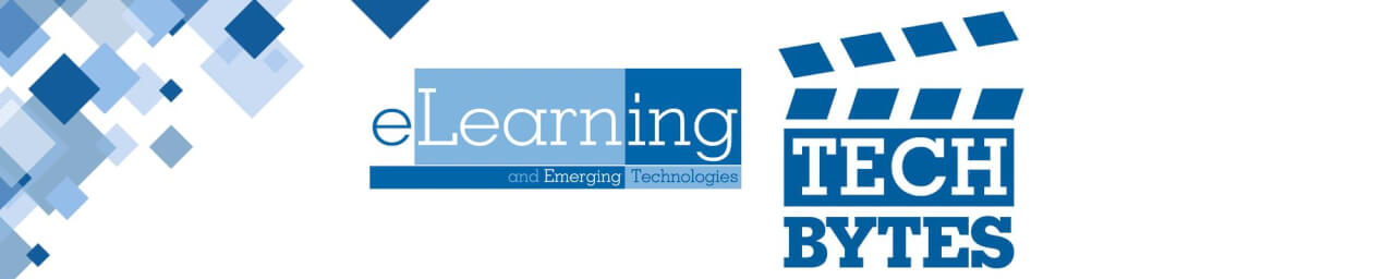 eLearning TECH BYTES Banner