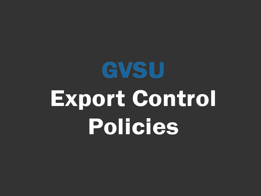 Export Control Policies for university employees