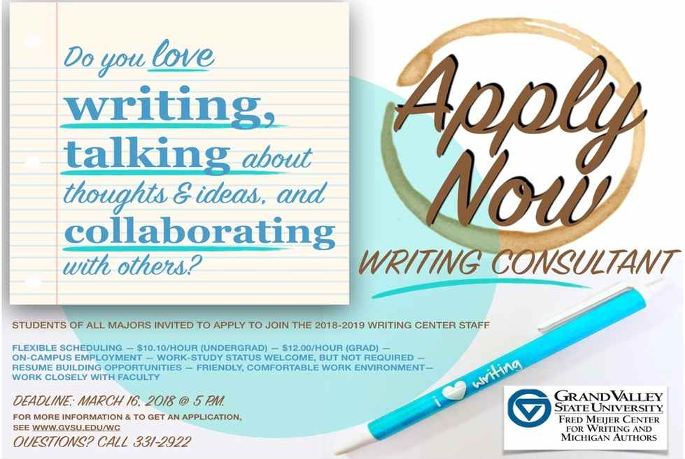 Apply to Become a Writing Consultant - Fred Meijer Center for ...