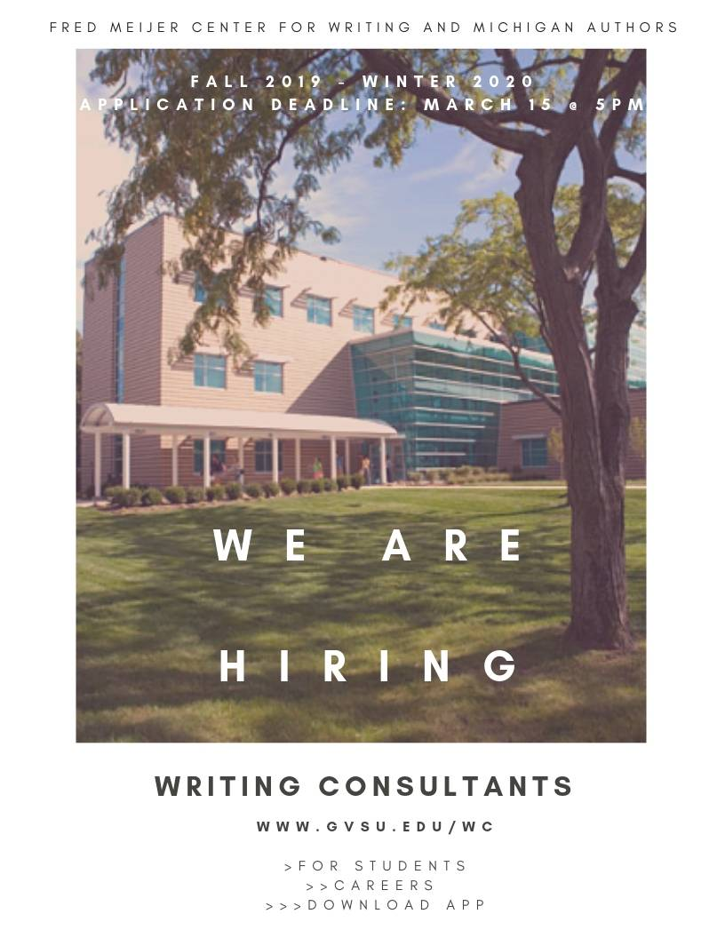 We are hiring writing consultants!
