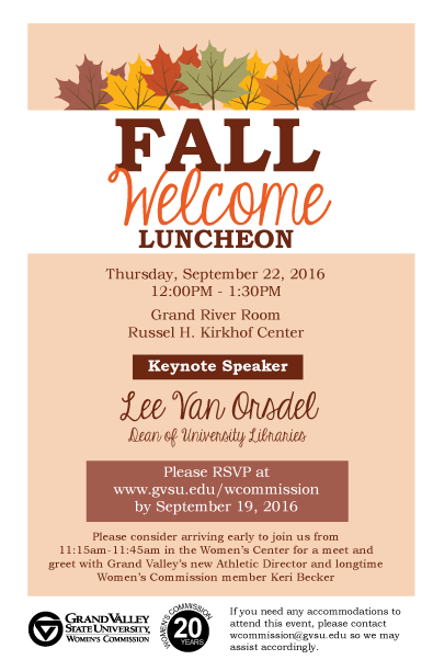 Fall 2016 Welcome