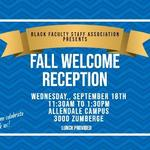 Fall Welcome Invitation on September 18, 2019
