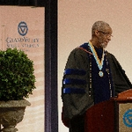 Dean George Grant, Ph.D. at podium