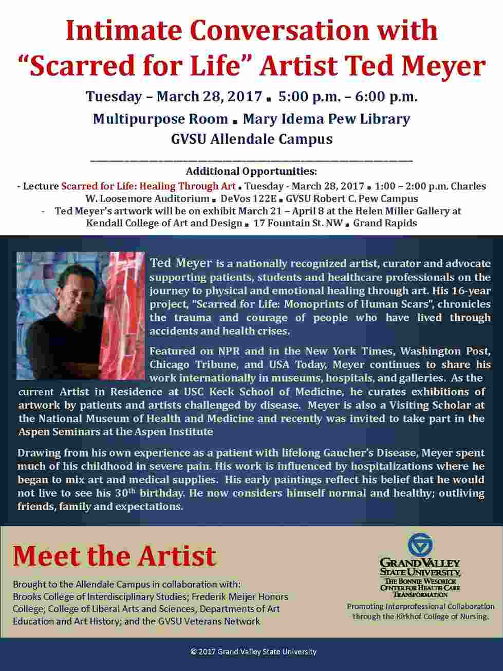 """Intemate Conversation with """"Scarred for Life"""" Artist Ted Meyer"""