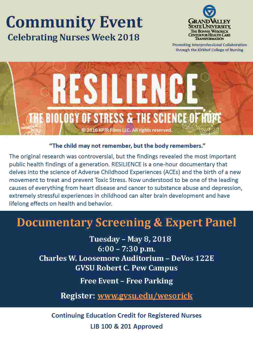 RESILIENCE - The Biology of Stress & the Science of Hope