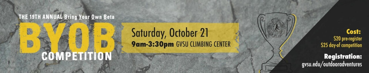BYOB Climbing Competition on Oct 21, 2017