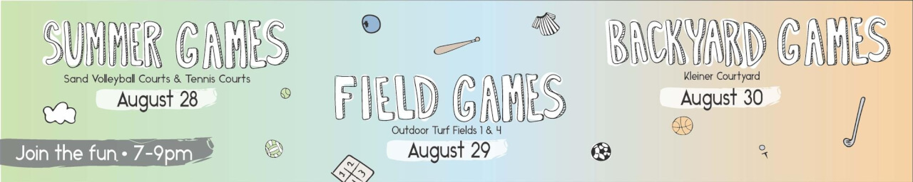 Summer Field & Backyard Games