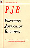 Princeton Journal of Bioethics journal cover page