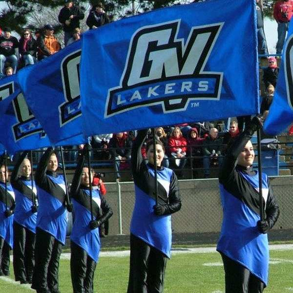 flag team with GVSU flags