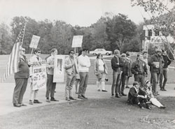 The Grand Valley community responded to the war in Vietnam with demonstrations