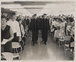 Opening ceremonies for Grand Valley State College in September 1963.