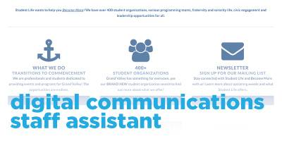 Digital Communications Staff Assistant