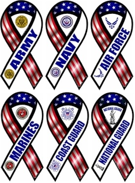 US Military branch ribbons