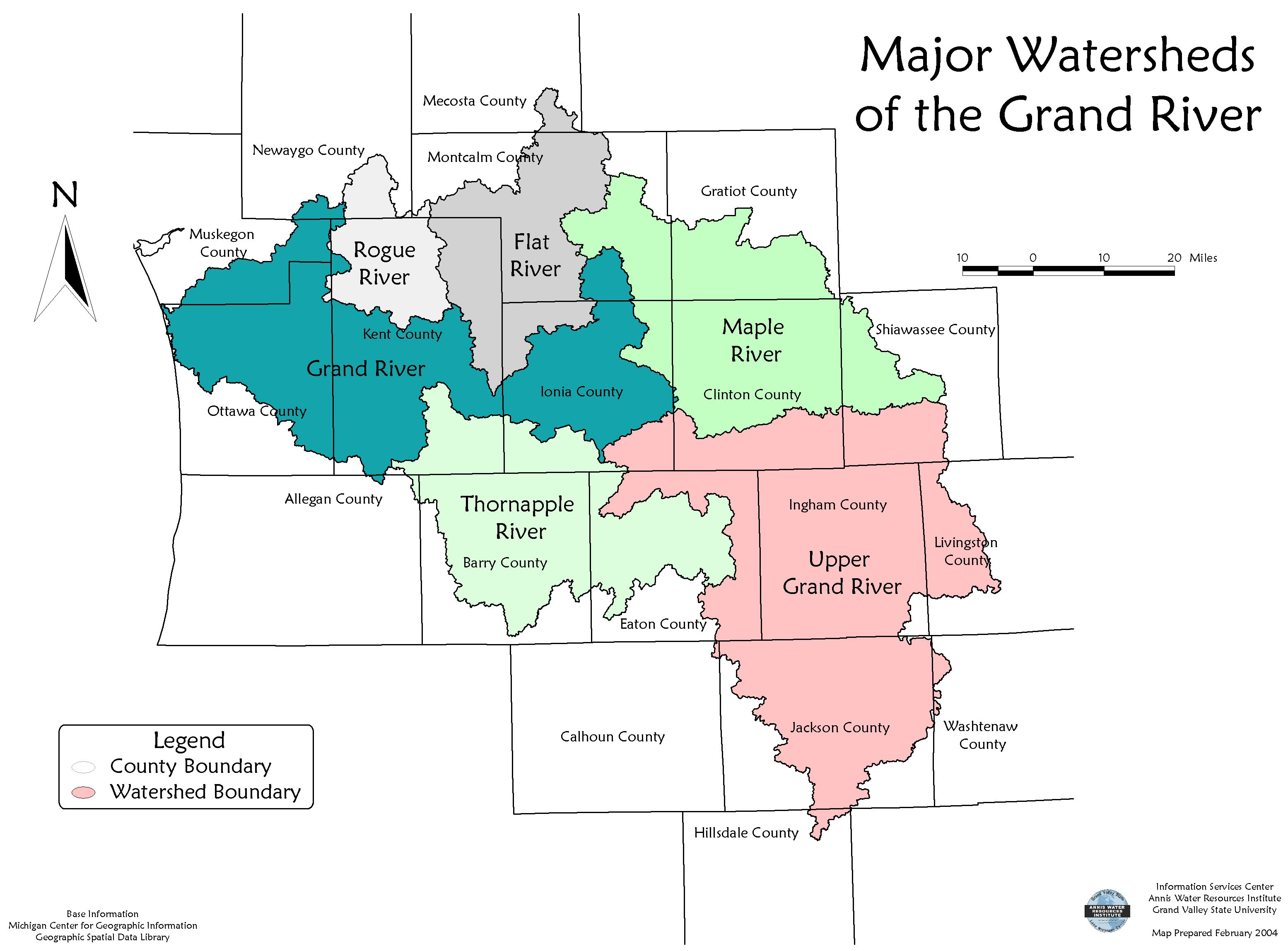 Lower Grand Watershed Interactive Tool WIT Water Science – Watershed Worksheet