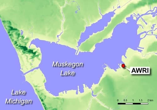 Muskegon Lake map