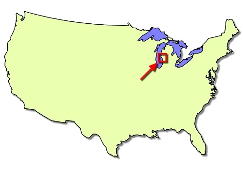 Awri S Location In The North Central U S The Laurentian Great Lakes Are Shown In Blue West Michigan Map