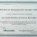 Kutsche Office Nominated for Michigan Humanities Award
