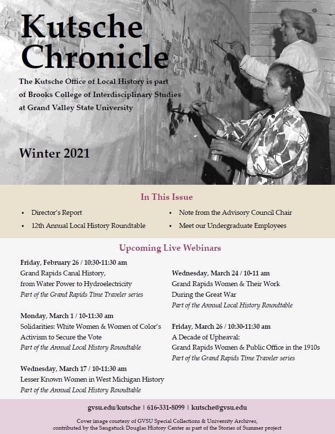Winter 2021 Kutsche Chronicle