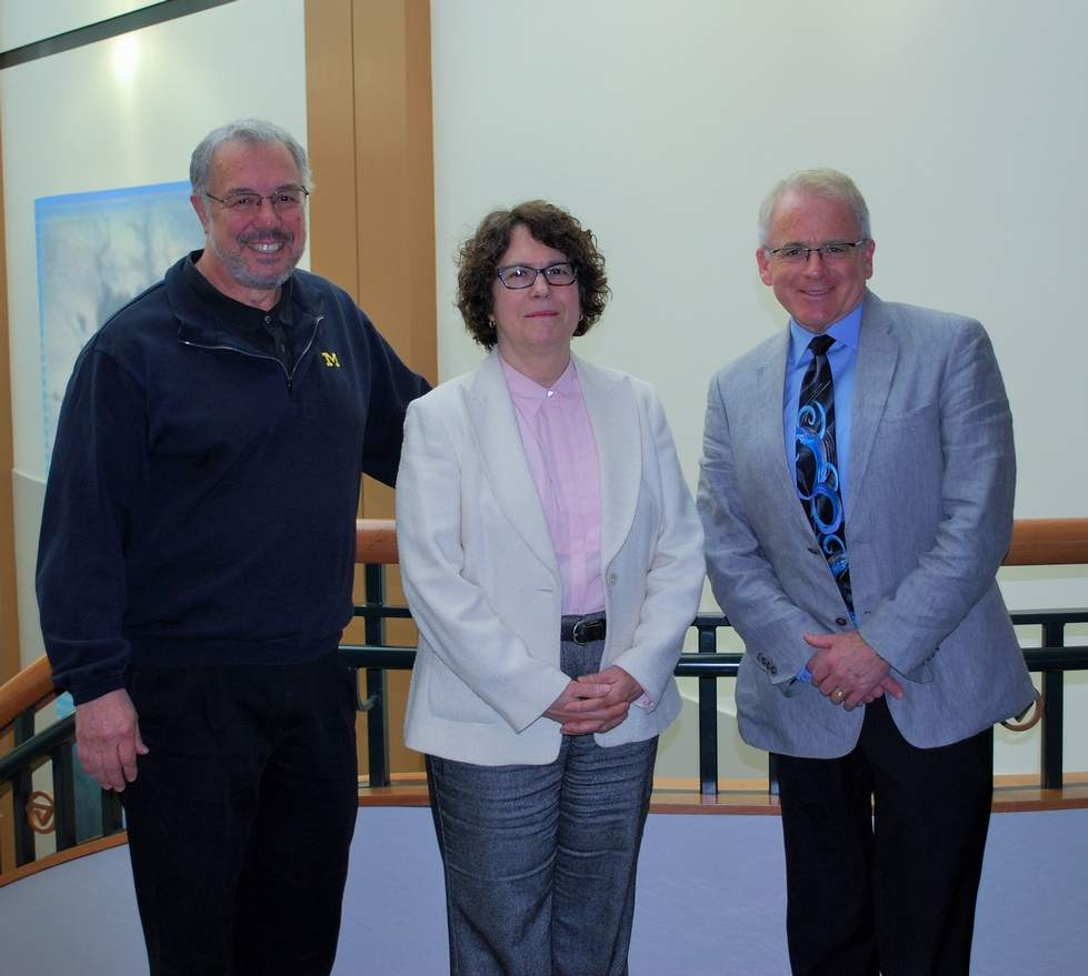 Pictured from L to R:  Dr. Don Scavia (University of Michigan), Dr. Carol Johnston (South Dakota State University) and  Dr. Gary Lamberti (University of Notre Dame). Missing: Dr. Harvey Bootsma (University of Wisconsin-Milwaukee)