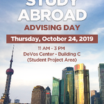Pew Campus Study Abroad Advising Day on October 24, 2019
