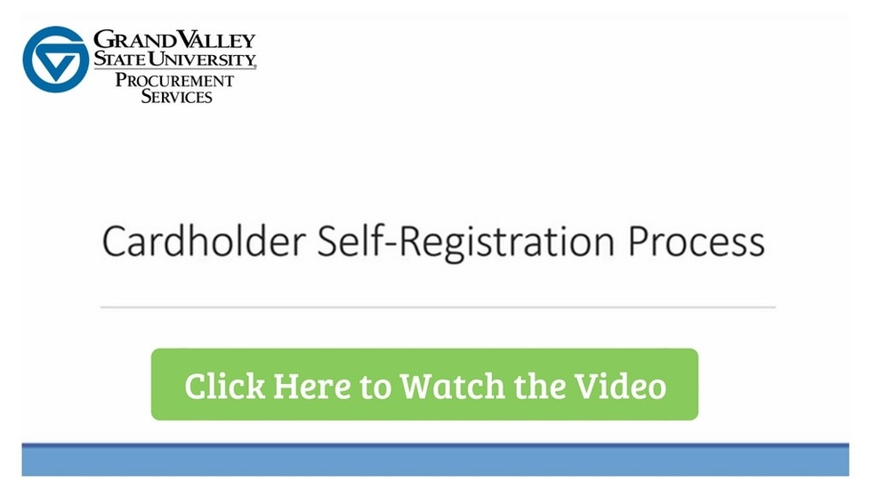 Cardholder Self-Registration Process
